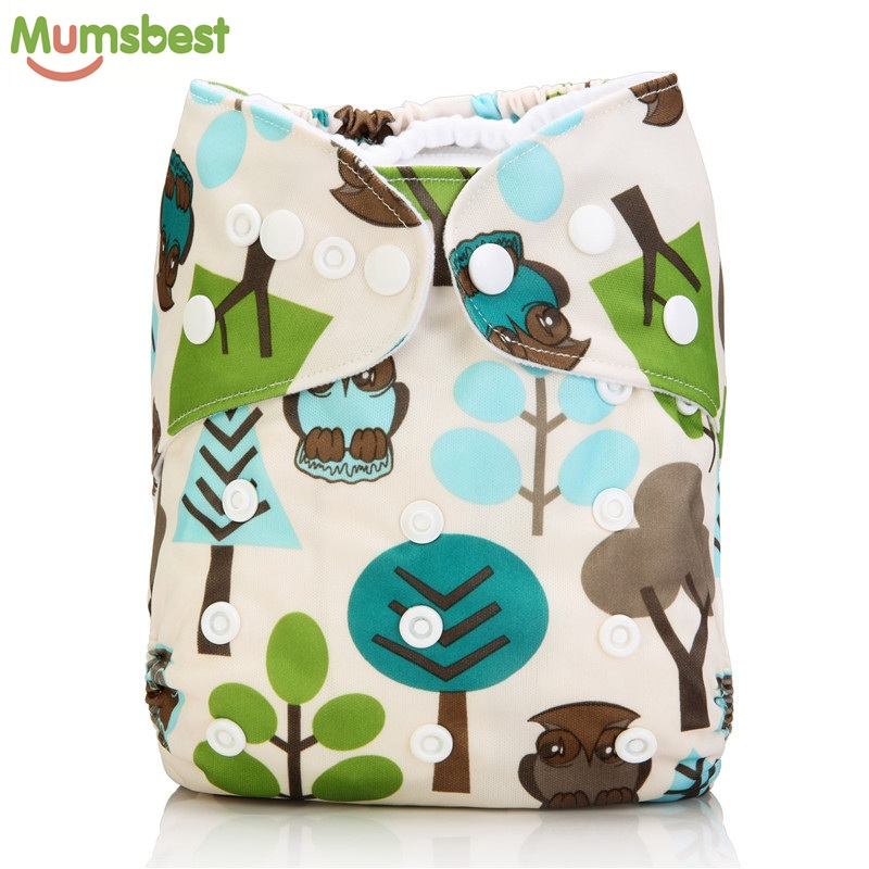 [Mumsbest] 10 piezas de pañales de tela para bebés Pañales con 10 inserciones Lavable Reutilizable a prueba de agua Traje 0-2 años 3-15kg