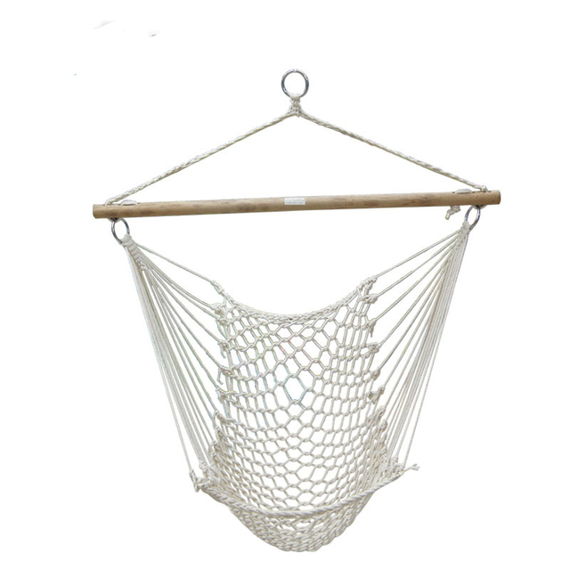 Outdoor Hammock Chair Hanging Chairs Swing Cotton Rope Net Swing Cradles  Kids Adults Outdoor Indoor Hot Sale