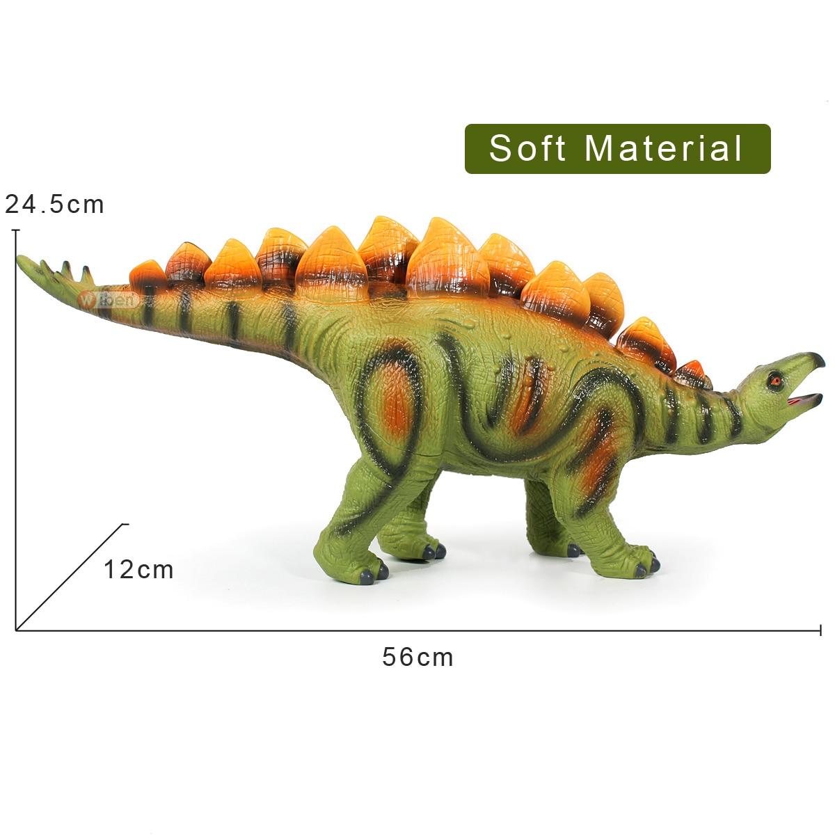 Soft Material Large-size Dinosaur Toys Stegosaurus Plastic Figures Jurrassic