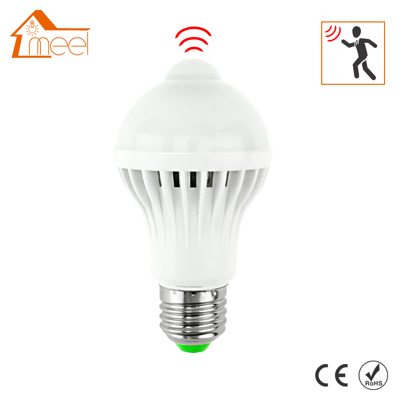 LED PIR Motion Sensor Lamp 5W 7W 9W Led Bulb E27 220V Auto Smart Led PIR Infrared Body Sensor Lamp E27 Motion Sensor Lights smuxi motion sensor led light bulb e27 b22 5w 7w 12w smart pir sensor led lamp bulb auto on off night lighting ac85v 265v