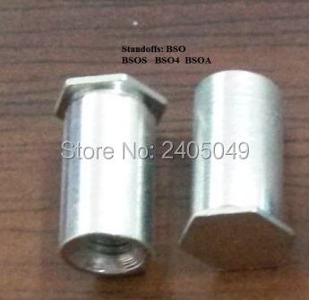 BSOA-440-6 Blind threaded  standoffs,  aluminum6061, Nature ,PEM standard,in stock, Made in china,