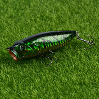 8cm/14g Lifelike Fishing Lure 1pcs High Quality Hard baits 5 Colors Topwater Popper Artificial Bass Wobblers Fishing Tackle