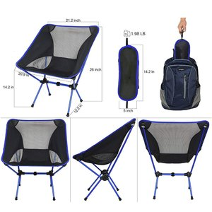Image 3 - Dropshipping Portable Lightweight Fishing Chair Solid Camping Stool Folding Outdoor Furniture Garden Portable Ultra Light Chairs