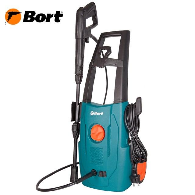 Мойка высокого давления Bort BHR-1600-SC (Мощность 1600 Вт, производительность 7 л/мин, макс.давление 120 бар, автоматическое всасывание, длина шнура 5 м, длина шланга 5 м)