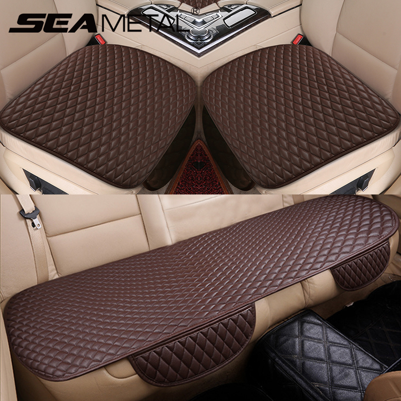 Car Seat Covers Universal Pu Leather Cover Set Four Seasons Cushion Pads Chairs Mats Goods Automobiles Interior Accessories Suitable For Men, Women, And Children