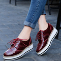 Brogue Shoes Woman 2017 Platform Women Oxfords British Style Creepers Cut-Outs Flat Casual chaussures femme zapatos mujer sapato