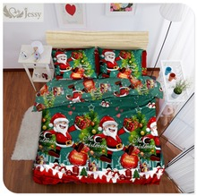 100% Polyester Christmas Gift 3Pcs/4Pcs Bedding Sets Duvet Cover Bed Sheet Pillowcase Twin Full Queen King