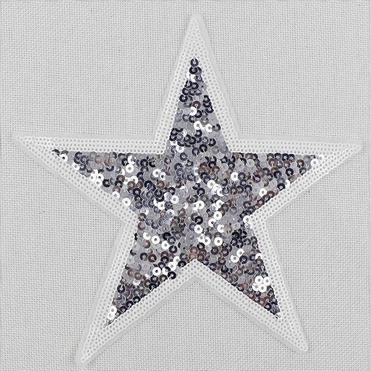 Пятиконечные звезды блестки buiter, футболки, свитер Мода джокер украшения ремонт одежды заполняющие отверстия наклейки