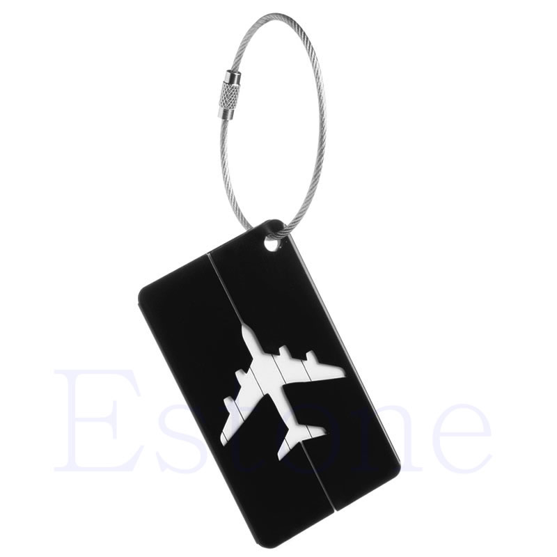THINKTHENDO New Aluminium Luggage Tags Suitcase Label Name Address ID Bag Baggage Tag Travel