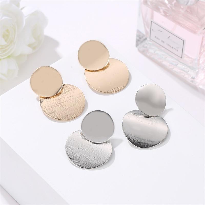 Fashion Statement Earrings Big Geometric earrings For Women Hanging Dangle Earrings Drop Earing modern Jewelry in Drop Earrings from Jewelry Accessories