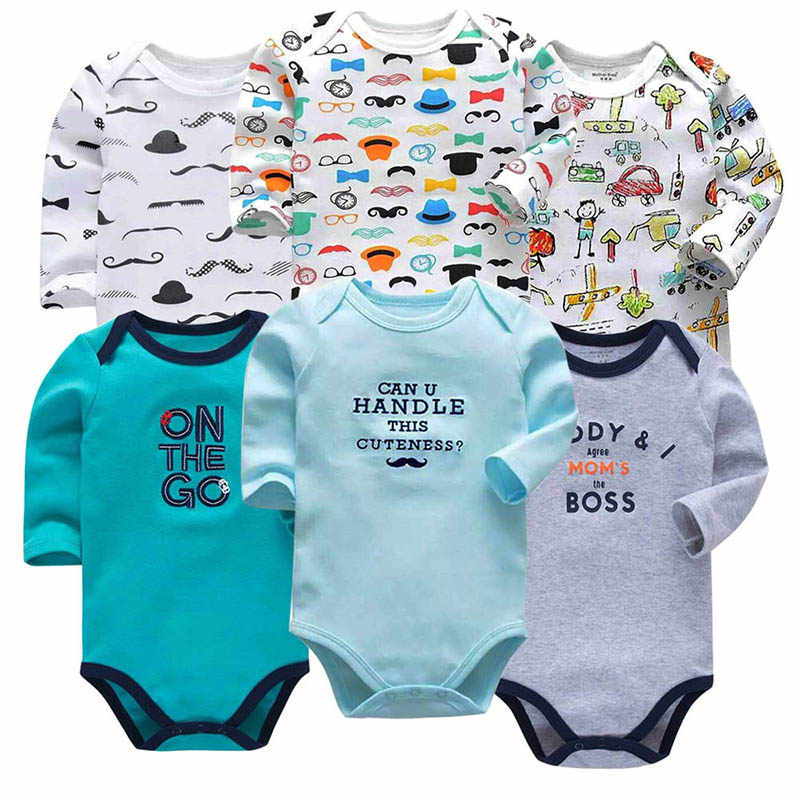 Fashion Newborn Baby Bodysuits Boys Girls Clothing Cotton Long Sleeve Soft Baby Pajamas Infant Jumpsuit Boy romper Baby's Sets