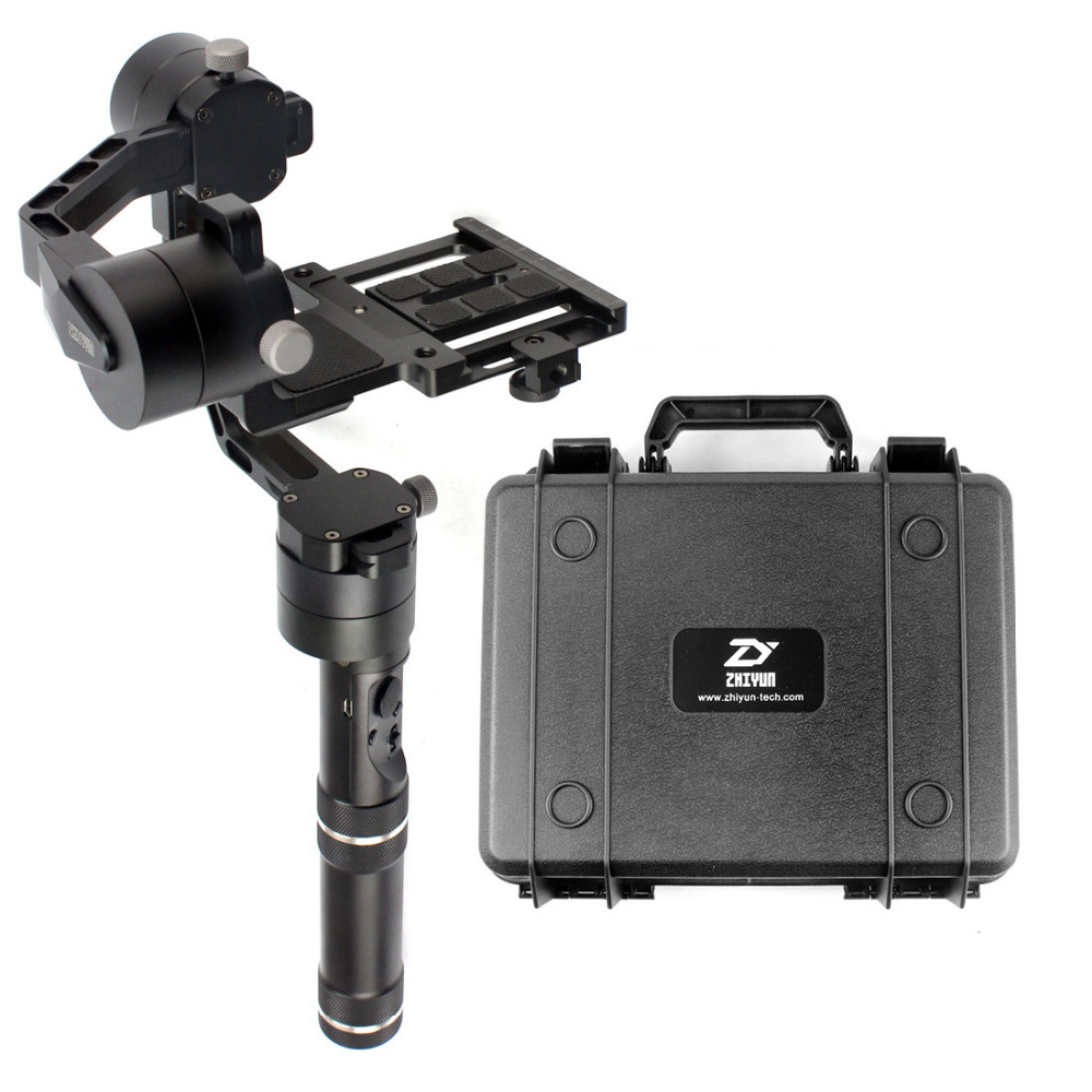F18164 Zhiyun Crane V2 3 axle Handheld Stabilizer 3-axle gimbal for DSLR Canon Cameras Support 1.8KG with suitcase zhiyun z1 rider2 3 axle handheld brushless gimbal for skiing