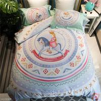 New Unicorn Bedding Set 100% Cotton Duvet Cover Bed Set Pillowcase 4Pcs twin Queen king size Bedsheet /fit sheet linen set
