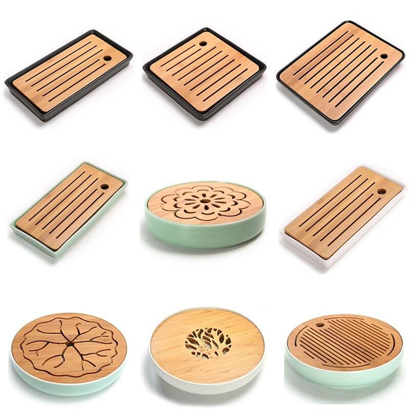 Keramik Bambus Tee Tablett Entwasserung Wasserspeicher Kung Fu Tee