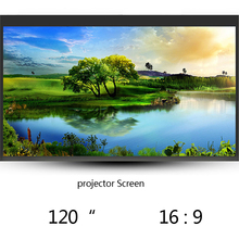 Free Shipping 120 Inch 16:9 Wall Mounted Matt White Fast Folding Portable Projection Screen For LCD LED DLP Projector