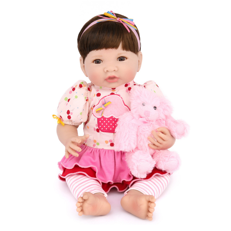 New 35CM Silicone Vinyl Doll Reborn Baby Dolls Girl Toys Soft Body Lifelike Newborn Babies Bonecas Toy Best Gift For Kid Child pretty alice girl doll reborn 40cm soft cloth body silicone newborn dolls best children gift dolls bebe bonecas menina