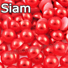 Siam Half Round bead Mix Sizes 2mm 3mm 4mm 5mm 6mm 8mm 10 12mm imitation ABS Flat back Pearls for DIY Nail Art jewelry Accessory(China)