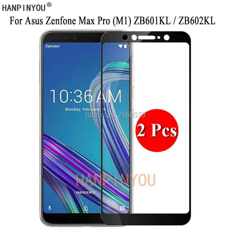 2 Pcs/Lot For <font><b>Asus</b></font> Zenfone Max Pro (M1) <font><b>ZB601KL</b></font> ZB602KL Full Cover Screen Protector Tempered Glass Protective Film + Clean Tools image