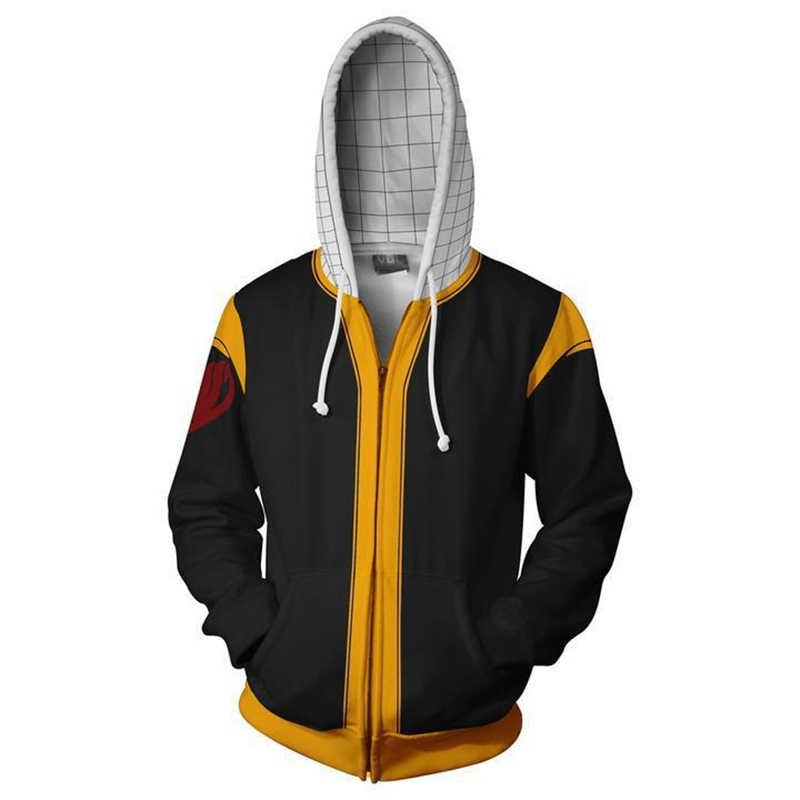 2019 FAIRY TAIL костюмы Люси хартфилия 3D печатных свитер косплэй конец Мода мультфильм с капюшоном на молнии куртки
