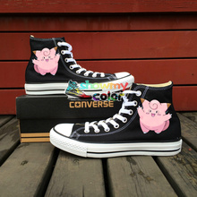 Women Men's Converse All Star Girls Boys Shoes Pokemon Clefairy Design Custom Hand Painted Sneakers Gifts
