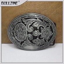 Пряжка ремня Bullzine Western с оловянной отделкой FP-03418 подходит для ремня шириной 4 см
