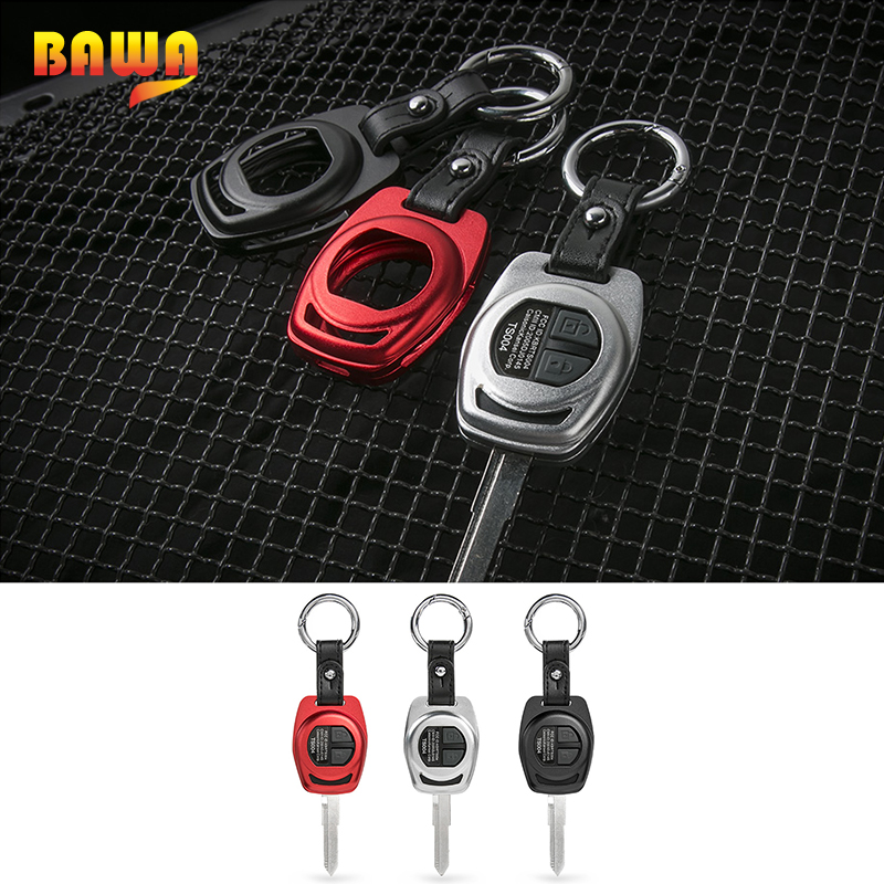 BAWA Key Case for Suzuki jimny 2007-2017 Metal Car Key Chain Shell Cover Accessories for Suzuki jimny