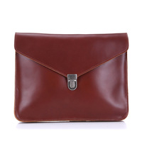Briefcase Vintage Cow Leather Business Bag Leather For iPad Envelope Bag Briefcase Men's Bag