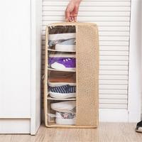 Home Fabric Shoes Storage Box Household Sundries Clothes Storage Box Folding Portable Stackable Storage Bag