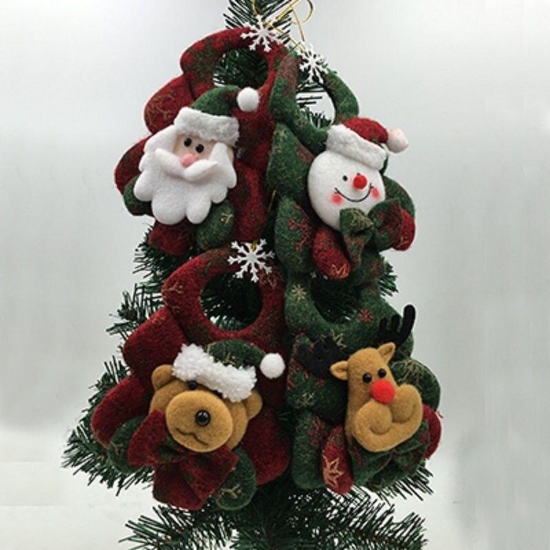 2017 brand happy new year christmas decor santa snowman xmas tree ornaments hanging pendant gifts wholesale - Christmas Decorations Wholesale