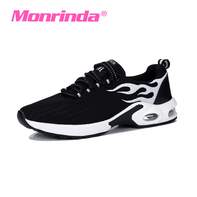 Monrinda Womens Sneakers Breathable Air Cushioning Women Running Shoes Breathable Fly Weave Sports Shoes Woman Jogging Shoe