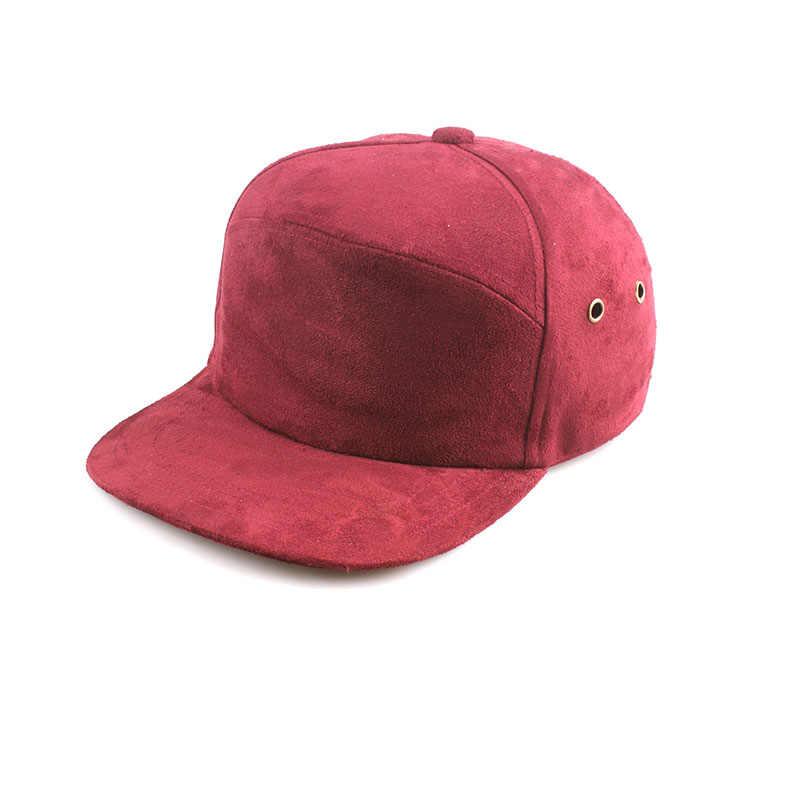 جلد الغزال ماركة فارغة 5 أغطية لوحات الهيب هوب قبعة العظام بوبي خمسة لوحة قبعة البايسبول سناب باك للرجال النساء قبعات مسطحة Casquette