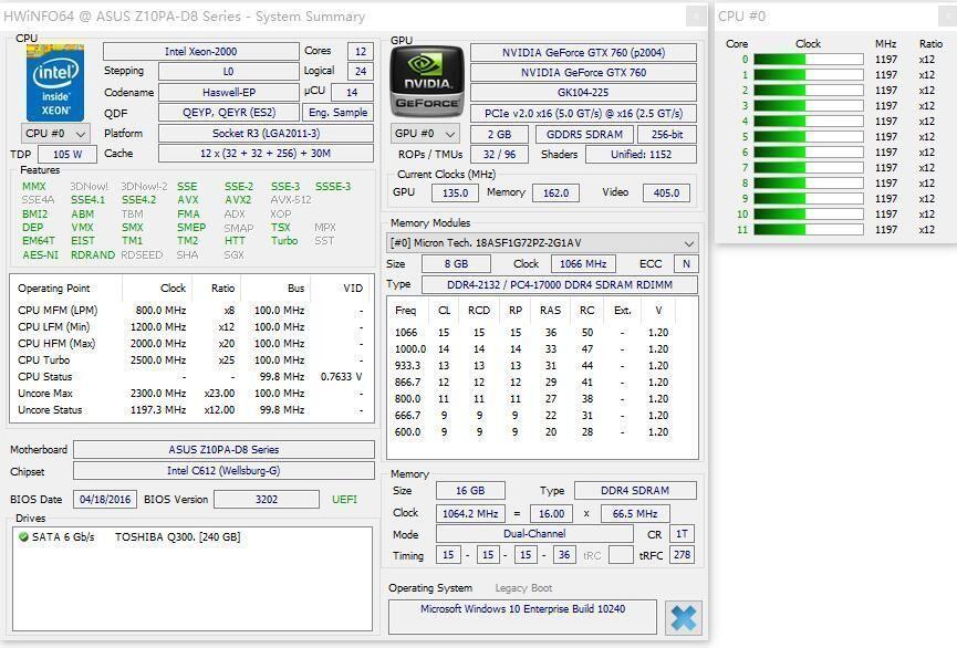 Image 3 - Original Intel Xeon processor E5 2658V3 QEYP or QEYR ES version 2.00GHZ 30M 12CORE E5 2658 V3 LGA2011 3 E5 2658V3 E5 2658 V3-in CPUs from Computer & Office