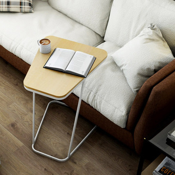 Stoliki do kawy meble do salonu drewniane meble domowe + stali nierdzewnej małe sofa stolik do herbaty basse minimalistyczny nowoczesne biurko 45*52*61 cm tanie i dobre opinie Meble do domu China Europa i ameryka Panel 45*52*61cm Ecoz Rectangle Montaż