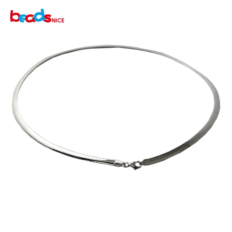 Beadsnice nouveau collier de manchette en argent sterling chocker pour femmes bijoux en gros solide argent 925 collier de chaîne de serpent ID31865