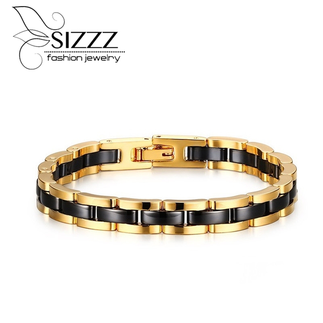 High Polish Magnetic Link Men's Tungsten Bracelets&Bangles For  Men Gifts Jewelry