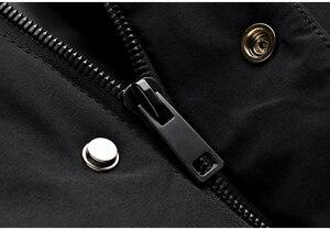 Image 5 - Inverno dos homens parkas com capuz grosso cor preta para 2020 novo homem magro ajuste roupas quentes marca masculino wear casacos mais tamanho 0281