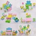 Новый DIY Дети ЕВА Ручной Творческий Мебель 3D Модель Головоломки Здание Детского Сада, Игры Детские Развивающие Игрушки Подарки