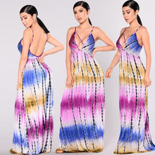 Sexy Print Dress Amazon Explosion Print Women s Strap Dress Europe and  America Nightclub Bandage Dress 7427daf55f83