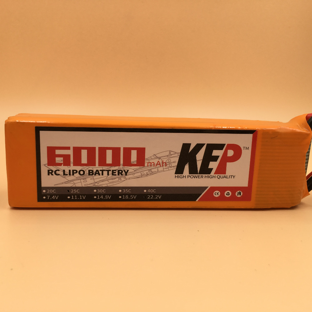 KEP RC Lipo Battery 3S 11.1v 6000mAh 25C For RC Aircraft Helicopter Car Drones Boat Quadcopter Li-Polymer Batteria 3S 1s 2s 3s 4s 5s 6s 7s 8s lipo battery balance connector for rc model battery esc