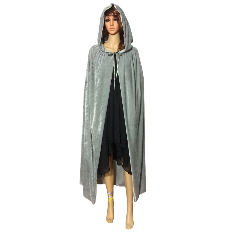New Fashion Festival Hooded Cloak Cosplay Velvets Gothic Cape Wicca Robe Vampire Costume