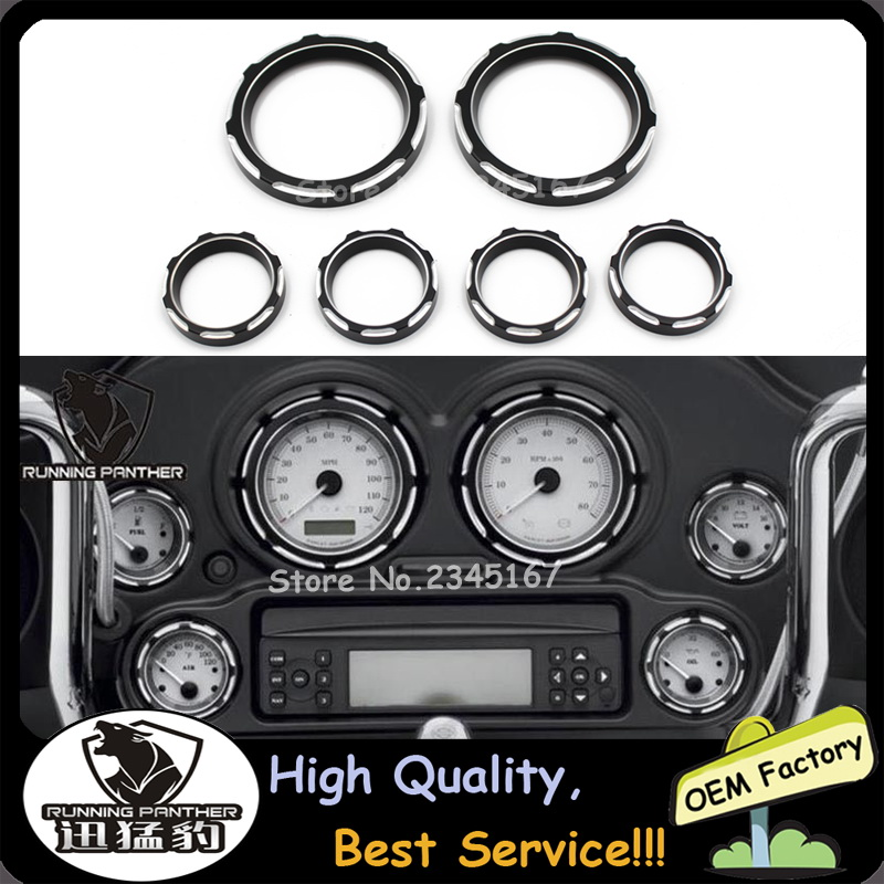 US $40 98 |Deep Cut Instrument board Burst Gauge Bezel For Ultra Classic  Electra Glide FLHTCU Road Glide Custom FLTRX Street Glide FLHX-in Covers &