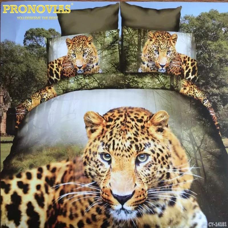 ᗛIncreíble 3D recuerdo del leopardo edredón cubierta cama hoja ...