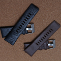 Cuero genuino de la correa correa negro 22 mm 24 mm 26 mm 28 mm accesorios del reloj band para vestido relojes del cuarzo hombres