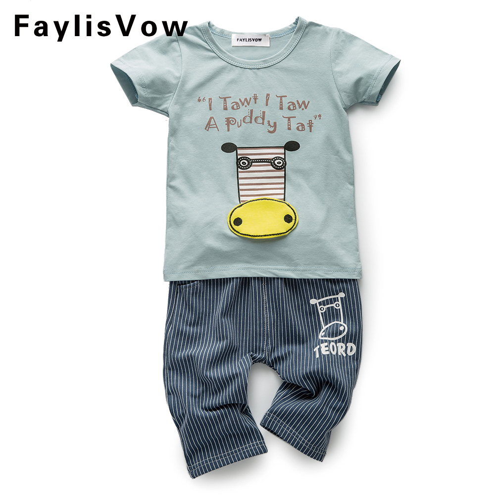 Clearance PCS/Set Tshirt + Pants Children Clothing Cow Print with Tail Sstripe Pants Baby clothes Fashion Casual Roupa Menino