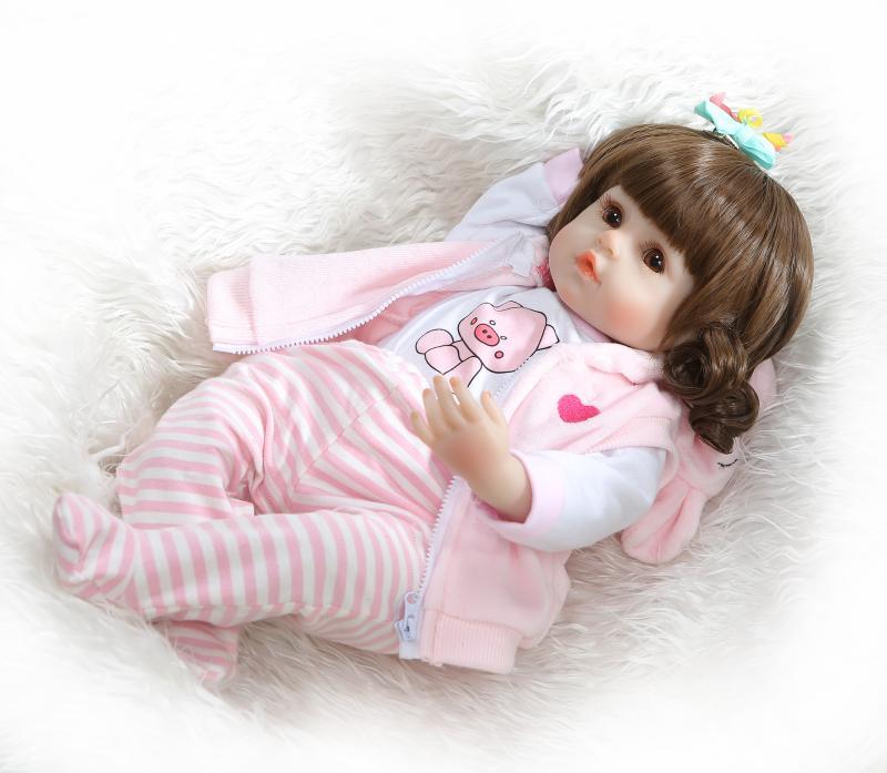 48 cm réaliste Reborn bébés doux Silicone bébé poupées lol reborn bambin réaliste nouveau-né bébé poupée pour enfant cadeau de noël - 3