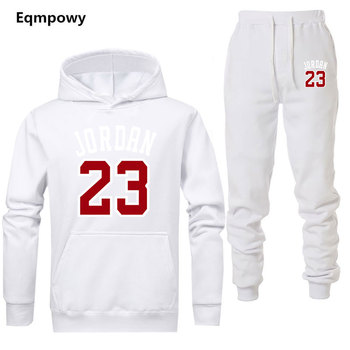 23 Jordan brand sporting suit men warm hooded tracksuit track men's sweat suits set letter print large size sweatsuit male