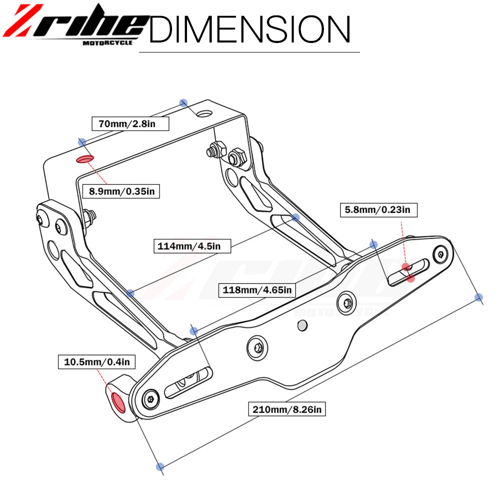 medium resolution of f r fender eliminator motorrad kennzeichenhalter ho tidy schwanz universal f r ktm 950 sm supermoto 950sm