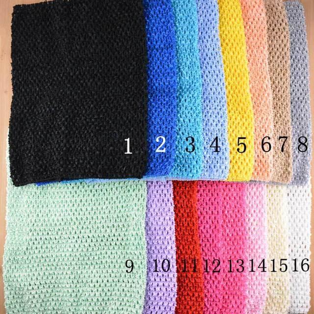 Niño niña de 12 pulgadas venda del ganchillo elástico crochet tutu ...
