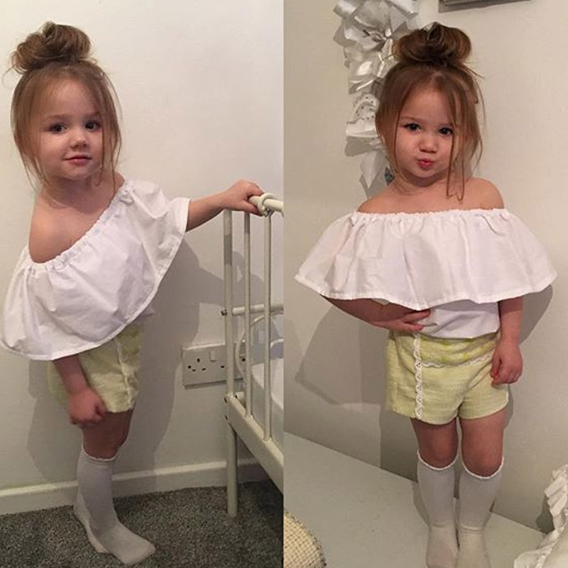 1640a6291 Angou new fashion girls summer T shirt European style tops toddler ...
