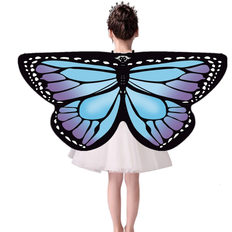 European Style Cloak Kid shawls and poncho Butterfly Cloak Wings shawls Girls Costume Festive Party Supplies